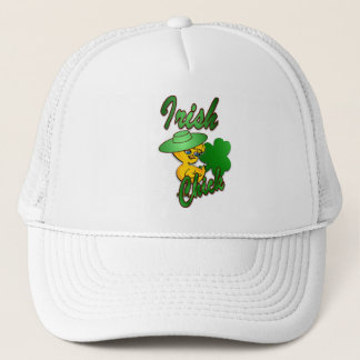 Irish Chick in Green Trucker Hat