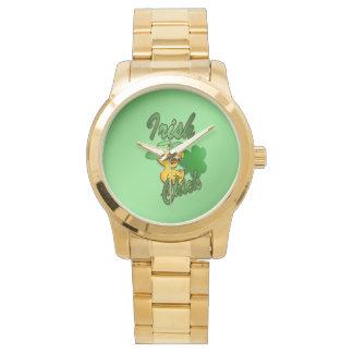 Irish Chick in Green Wristwatches