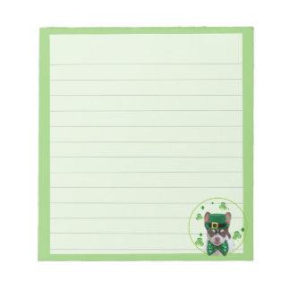 Irish Chihuahua  dog notepad