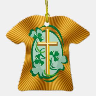 Irish Christianity Ceramic T-Shirt Ornament