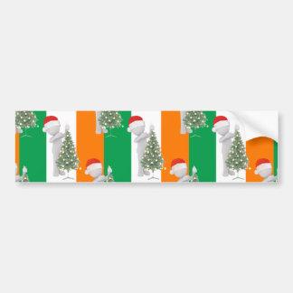 irish christmas bumper sticker