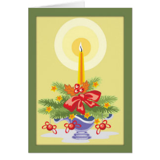 Irish Christmas Candle Blessing Card