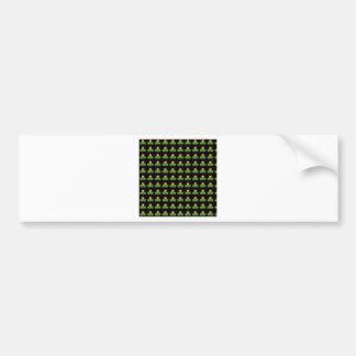 Irish Christmas Clover Pattern Bumper Sticker