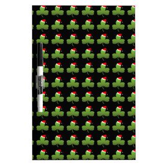 Irish Christmas Clover Pattern Dry-Erase Whiteboard