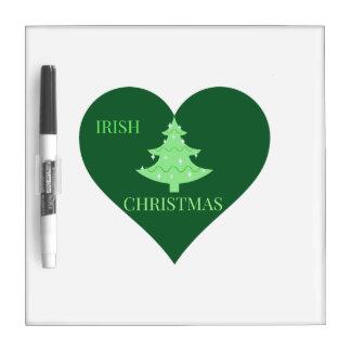 Irish Christmas Dry Erase Whiteboard