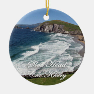 Irish Christmas Ornament,Slea Head, Ring Of Kerry Ceramic Ornament