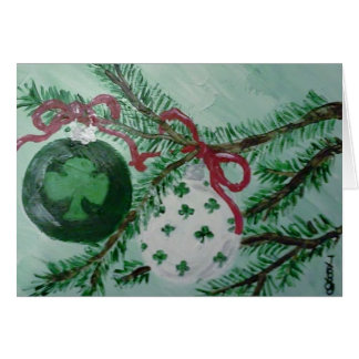 Irish Christmas ornaments Card