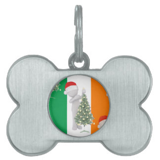 irish christmas pet name tags
