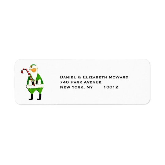 Irish Christmas Santa Claus mailing labels