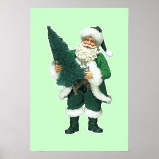 Irish Christmas Santa Claus Poster