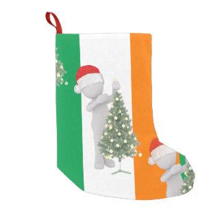irish christmas xmas stocking small christmas stocking