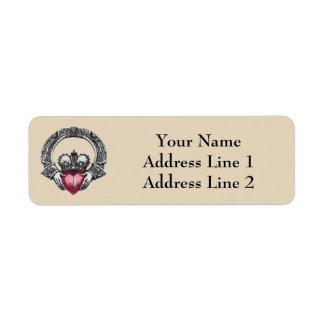 Irish Claddagh Address Label