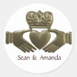 Irish Claddagh Gold Wedding Seals