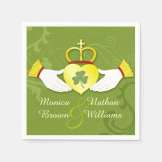 Irish Claddagh Heart Celtic Wedding Paper Napkins