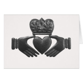 Irish claddagh love symbol card