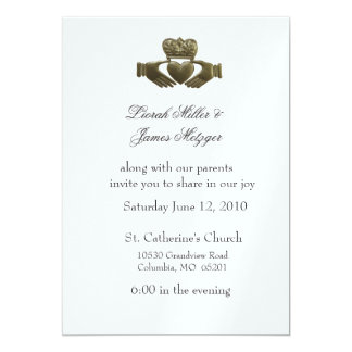 Irish Claddagh Wedding Invitation