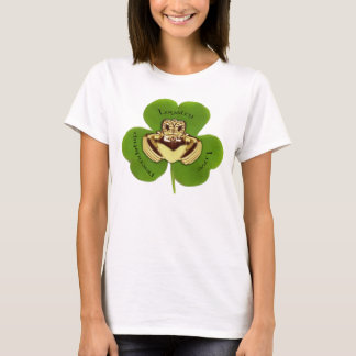 Irish Claddaugh with Shamrock, T-shirts, apparel T-Shirt