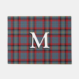 Irish Clan MacNamara Tartan Plaid Doormat