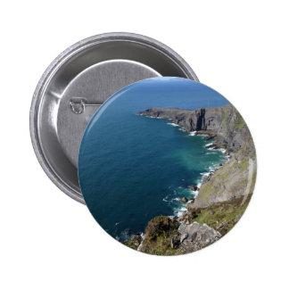 Irish Cliffs In Dingle Ireland By The Ocean 2 Inch Round Button
