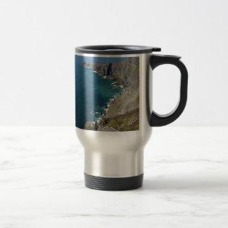 Irish Cliffs In Dingle Ireland By The Ocean Travel Mug