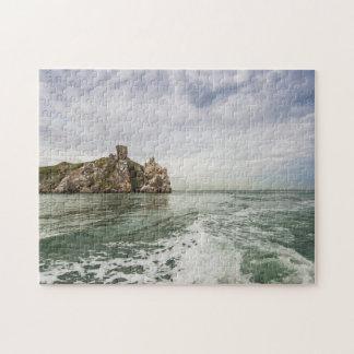 Irish cliffs under a cloudy sky jigsaw puzzle