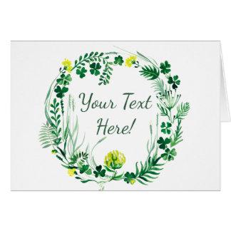 Irish clover card