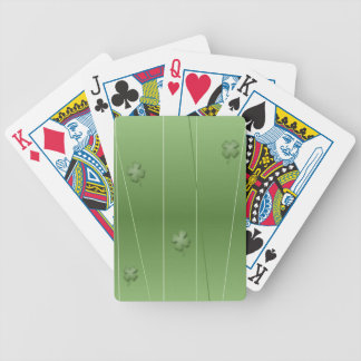 Irish Clover Design Bicycle Playing Cards