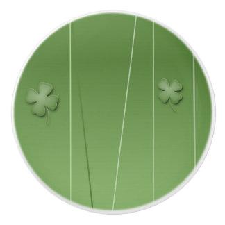 Irish Clover Design Ceramic Knob