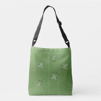 Irish Clover Design Crossbody Bag