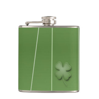Irish Clover Design Hip Flask
