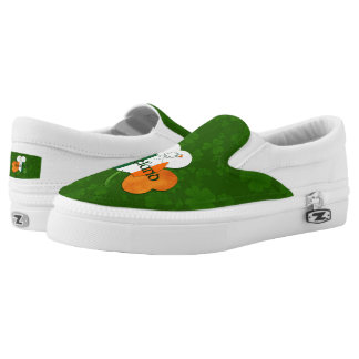 Irish Clover - Flag of Ireland Colors Slip-On Sneakers