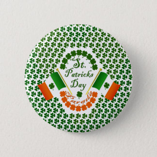 Irish clover flag of Ireland Eire gear 2 Inch Round Button
