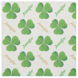 Irish clover & name St. Patrick's Day personalized Fabric