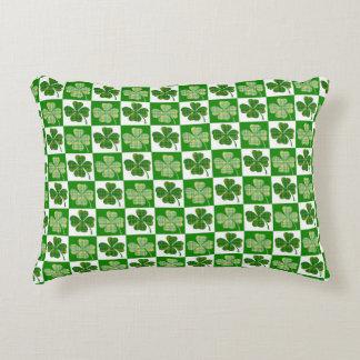 Irish Clover Pattern Accent Pillow