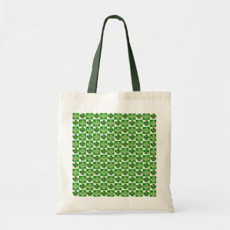 Irish Clover Pattern Tote Bag
