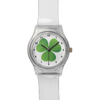Irish clover St. Patrick's Day custom Watch