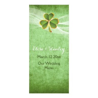 Irish menu rack card templates irish menu rackcard templates for Irish menu templates
