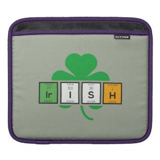 Irish cloverleaf chemical element Zz37b iPad Sleeve