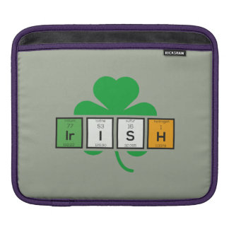 Irish cloverleaf chemical element Zz37b iPad Sleeves