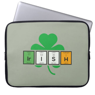 Irish cloverleaf chemical element Zz37b Laptop Sleeve