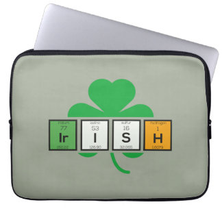 Irish cloverleaf chemical element Zz37b Laptop Sleeves