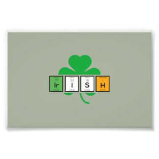 Irish cloverleaf chemical element Zz37b Photo Print