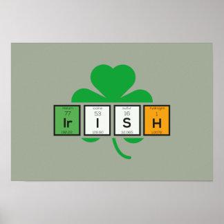 Irish cloverleaf chemical element Zz37b Poster