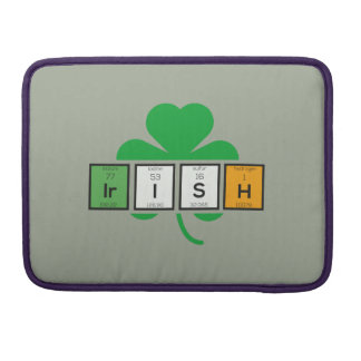 Irish cloverleaf chemical element Zz37b Sleeve For MacBook Pro