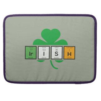 Irish cloverleaf chemical element Zz37b Sleeve For MacBooks