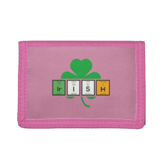 Irish cloverleaf chemical element Zz37b Tri-fold Wallet