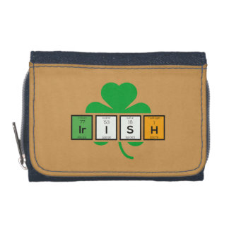 Irish cloverleaf chemical element Zz37b Wallet