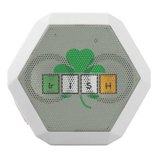 Irish cloverleaf chemical element Zz37b White Bluetooth Speaker