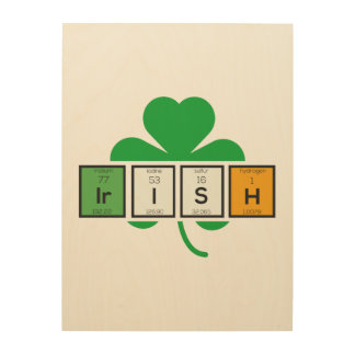 Irish cloverleaf chemical element Zz37b Wood Print