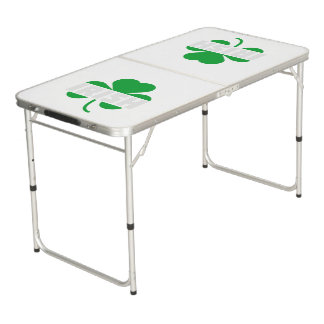 Irish cloverleaf shamrock Z2n9r Beer Pong Table